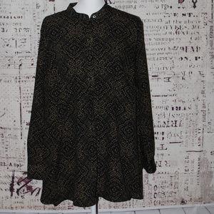 Lauren Ralph Lauren Long sleeve tunic blouse 2x